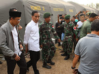 Satgas Yonkes 2 Kostrad Terima Kunjungan Presiden Joko Widodo
