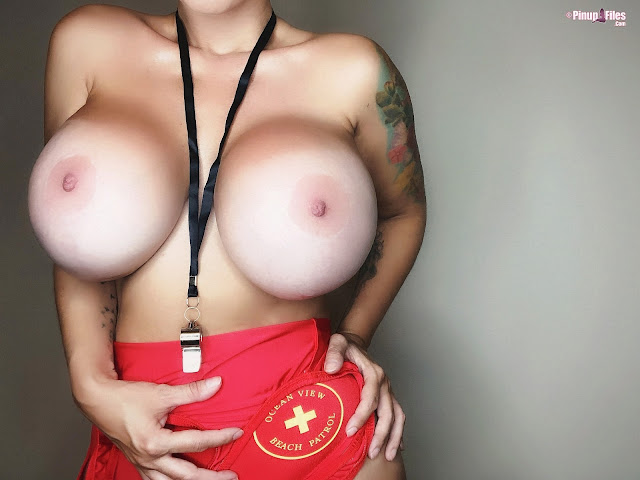 Brittany Elizabeth standing big boobs naked with hanging whistle