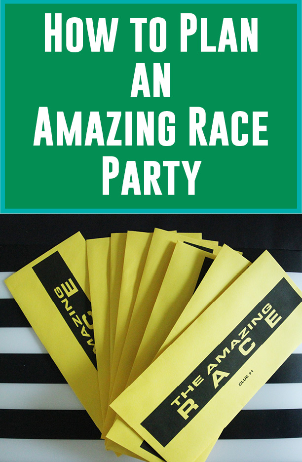 How to plan an amazing race party and more free for Amazing race birthday party templates