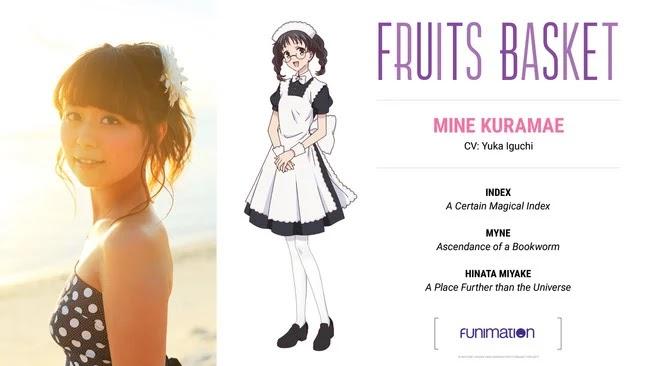 Yuka Iguchi interpretará al personaje Mine Kuramae