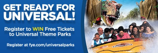 F.Y.E. UNIVERSAL PARKS SWEEPSTAKES
