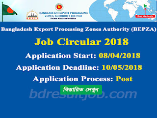 Bangladesh Export Processing Zones Authority (BEPZA) Job Circular 2018