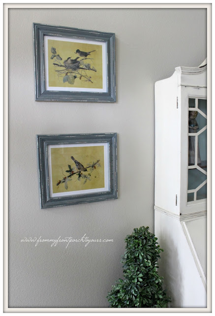 Farmhouse Foyer- Vintage-Bird-Pictures-From My Front Porch To Yours