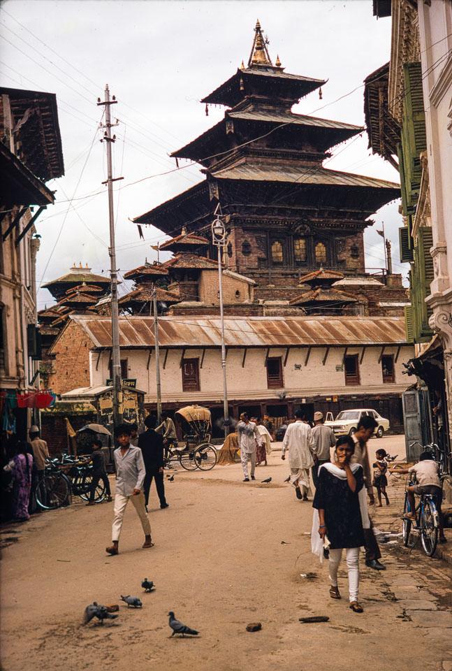 Old image of Taleju Temple , Kathmandu