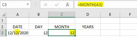 Rumus MONTH Excel
