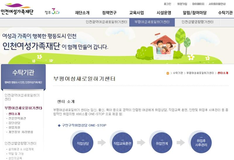 부평여성새로일하기센터, '재가시설 사회복지사 양성과정'교육생 모집