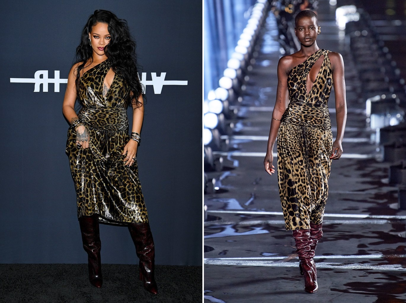 "Rihanna wore a full Saint Laurent Spring 2020 look to the launch of her first visual autobiography, ""Rihanna"" in NYC."