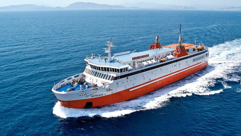 Ολιγοήμερη διακοπή δρομολογίων του Ε/Γ-Ο/Γ ΑΔΑΜΑΝΤΙΟΣ ΚΟΡΑΗΣ λόγω δεξαμενισμού του πλοίου