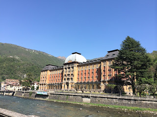 The majestic Art Nouveau Grand Hotel at San Pellegrino