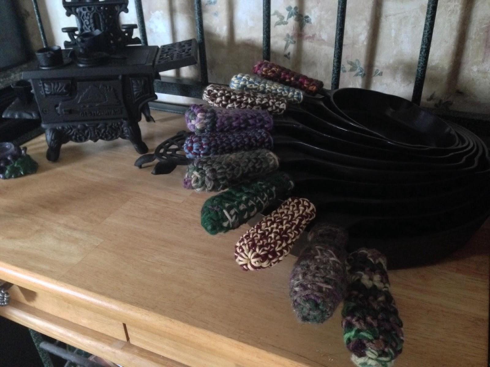 Adventures In Crochet Cast Iron Skillet Handle Cover