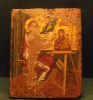 το έργο Ο Ευαγγελιστής Λουκάς ζωγραφίζει την Παναγία του Δομήνικου Θεοτοκόπουλου στο Μουσείο Μπενάκη