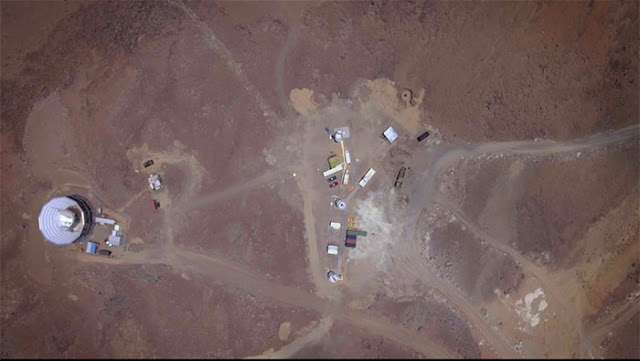 Aerial view of Simons Observatory (Source: Simons Observatory)