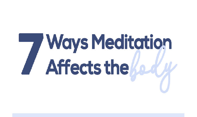 7 Ways Meditation Affects the Body #infographic