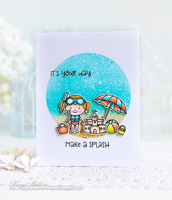 Sunny Studio Stamps: Beach Babies Summer Themed Cards by Kay Miller