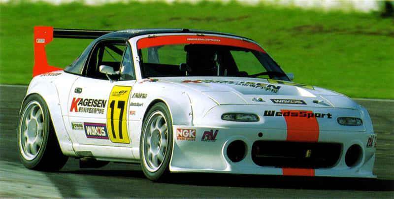 Mazda MX-5, Miata, Eunos Roadster, tuning, kultowy, legendarny, 日本車, スポーツカー, オープンカー, マツダ, NA, wyścigi, JGTC, Wankel, rotary, 13B, racing