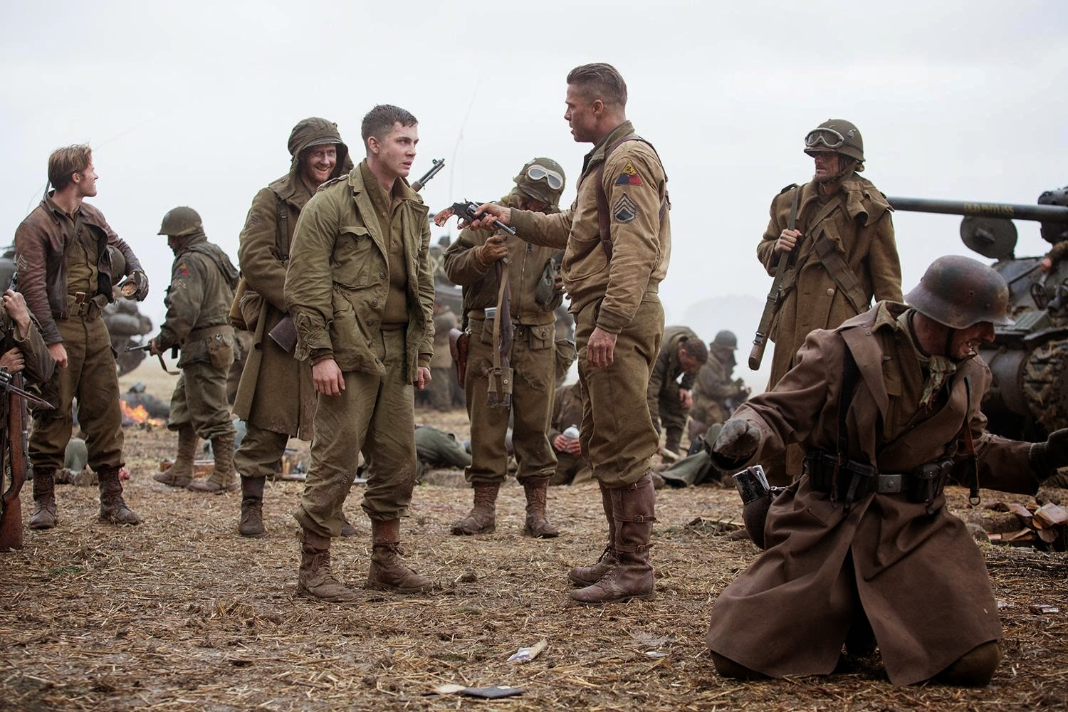 Fury: Brad Pitt & Logan Lerman | A Constantly Racing Mind