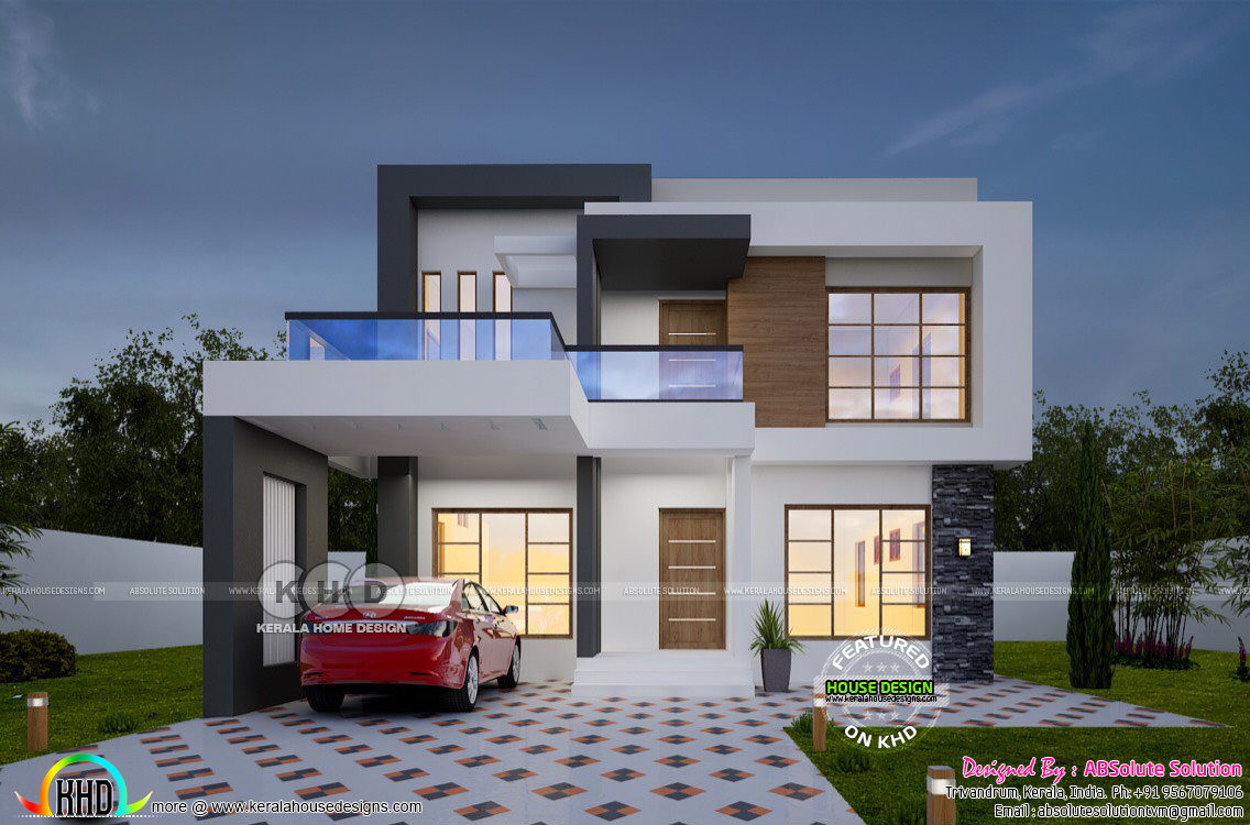 1900 sq ft cost estimated contemporary home kerala for House design and estimate cost