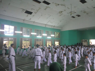 233 Karateka Lampung Ikuti Ujian Kenaikan Tingkat KYU