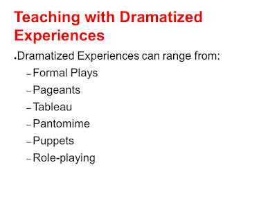 Educational Technology 1: Lesson 9: Teaching with dramatized Experiences
