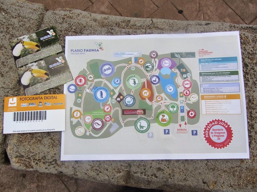 Mapa Faunia, situado en Madrid