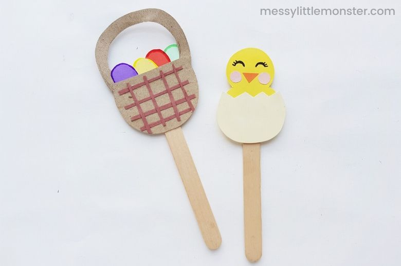 Easter stick puppets