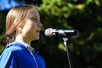 La jeune Suédoise devenue symbole de la lutte pour l'environnement, Greta Thunberg, était à Montréal pour la grande marche pour le climat, vendredi. (Credit: tvanouvelles.ca) Click to Enlarge.