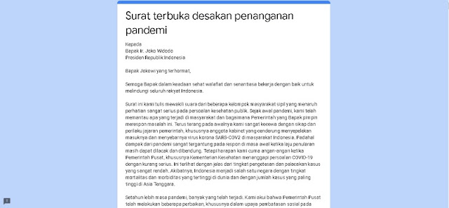 Hampir Seribu Orang Tanda Tangani Petisi Agar Jokowi Lockdown RI
