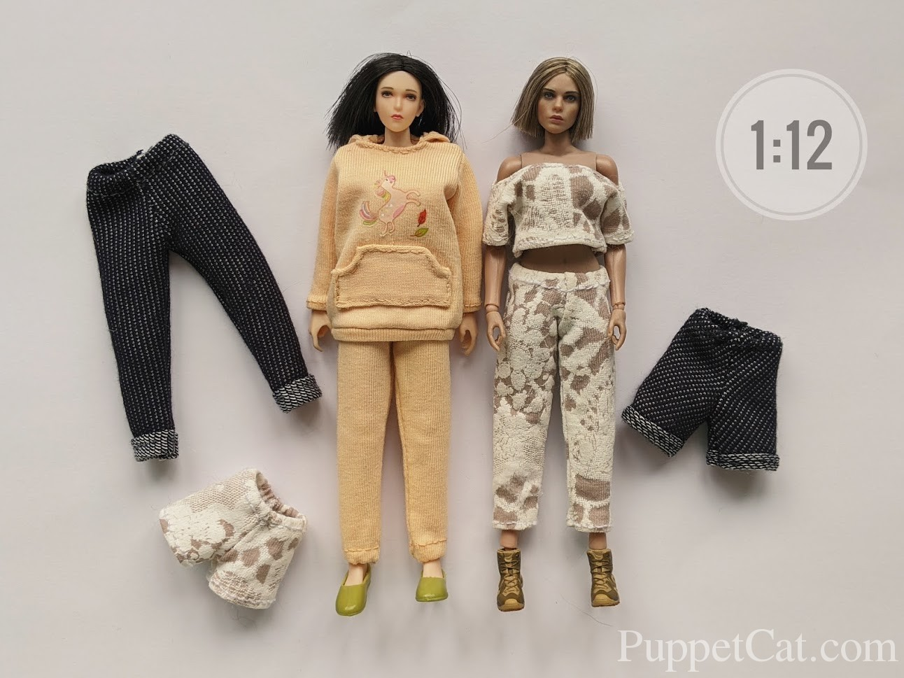 pants for dolls 1/12