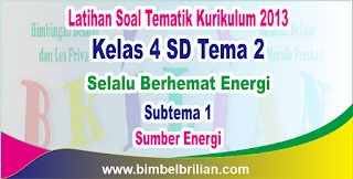 Soal Tematik Kelas 4 SD Tema 2 Subtema 1 Sumber Energi dan Kunci Jawaban