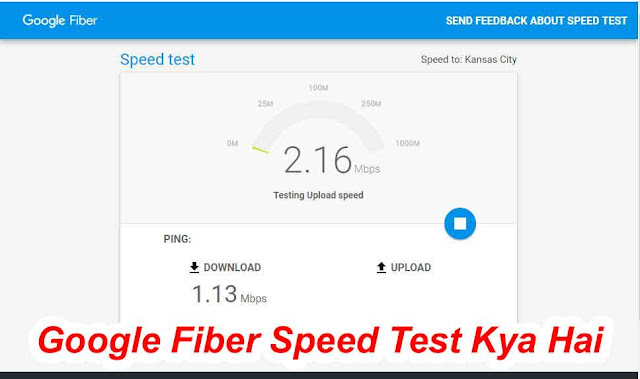 Google Fiber Speed Test Kya Hai