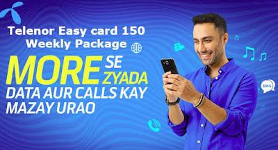 Telenor Easy card 150 Weekly Package