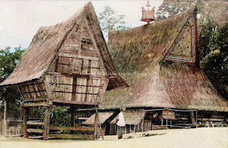 rumah bolon simalungun dan lumbung padi kota pematangsiantar