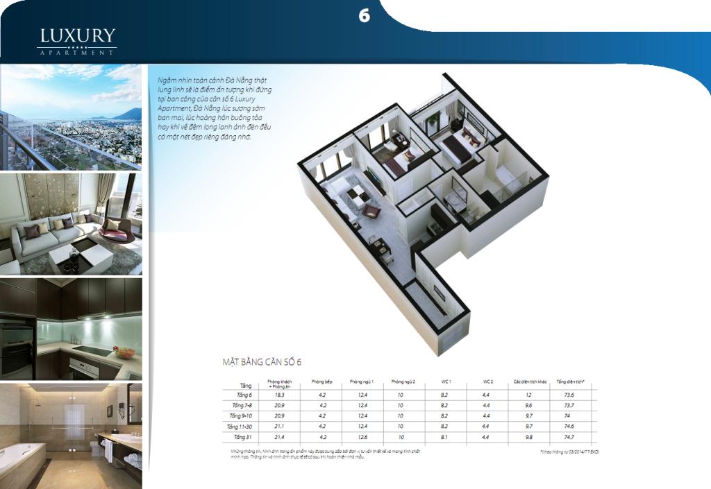 Chi tiết căn hộ 06 dự án Luxury Apartment