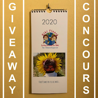 kiki monchhichi giveaway concours contest calendar new year