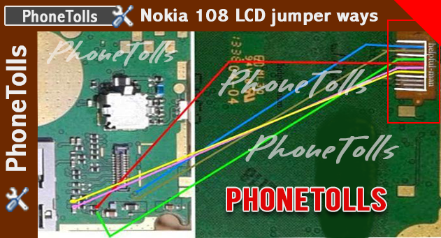 Nokia 108 LCD light not working jumper - Phonetolls