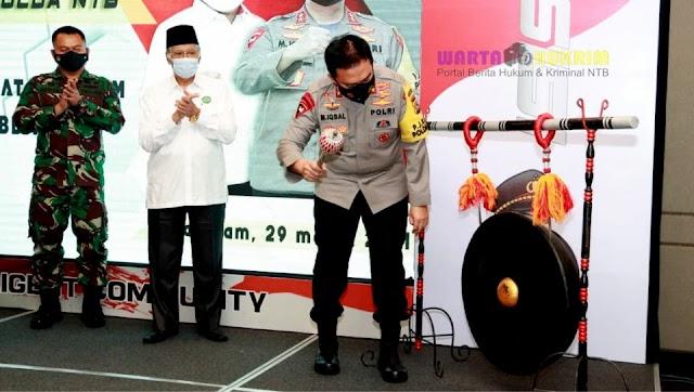 Dukung Program Prioritas Kapolri, Polda NTB Launching Website Dit Intelkam