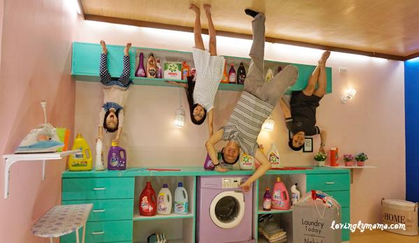 Upside Down World Cebu - laundry room - family time
