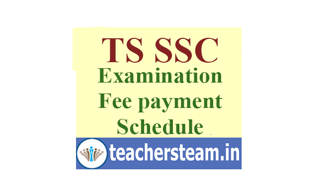 TS SSC Examinations Fees Payment Schedule and Due Dates