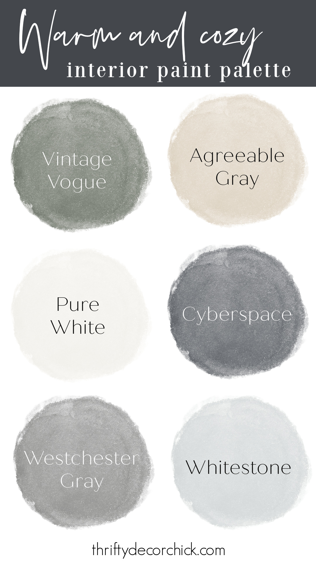Thrifty Decor Chick interior paint colors