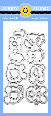 Sunny Studio Stamps: Merry Mice Coordinating Metal Cutting Dies to Match Stamp Set