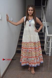 Telugu Actress Anu Emmanuel New Stills in Beautiful White Long Dress  0097.JPG