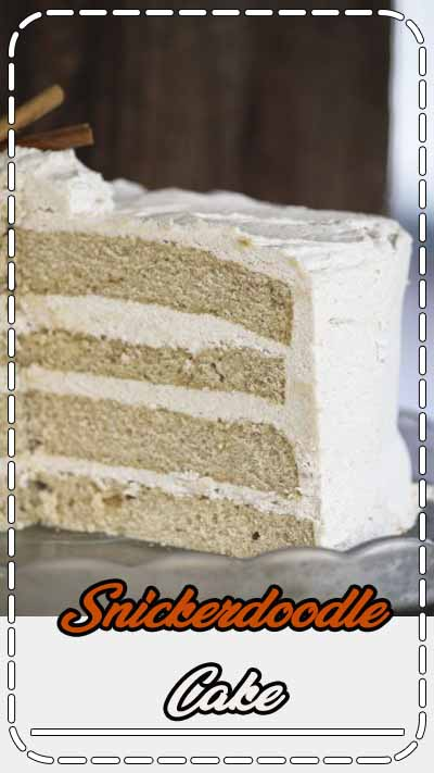 The name says it all: Snickerdoodle Cake with Brown Sugar Cinnamon Buttercream. This is the well-loved snickerdoodle cookie rewritten as a moist cinnamon vanilla butter cake layered and surrounded with a smooth, decadent buttercream laced with sweet ground cinnamon and brown sugar.