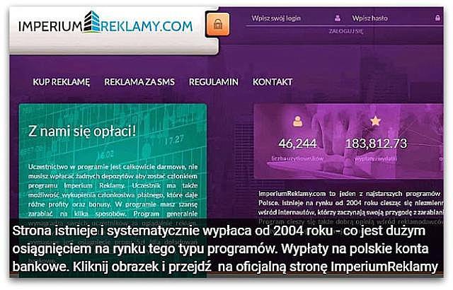 Zarobki w ImperiumReklamy(wypłacalne strony, czytanie maili, oglądanie reklam, ankiety).