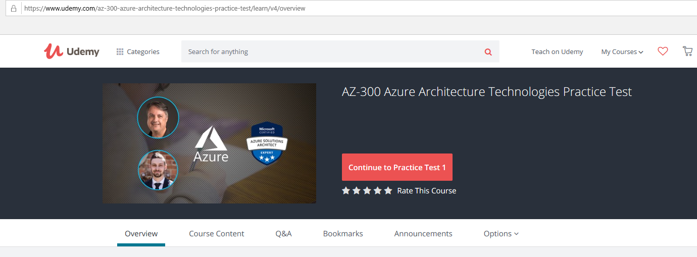 My mantra to clear AZ-300 Azure Architect Technologies