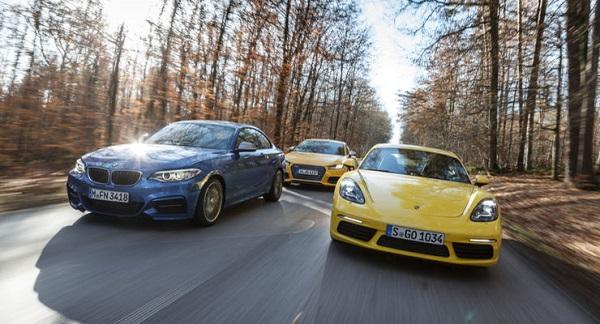 BMW M240i vs Audi TTS vs Porsche 718 Cayman