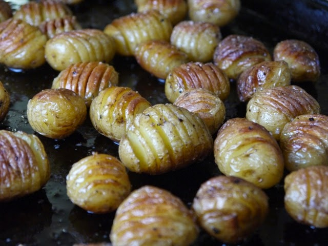Little Hasselback Potatoes