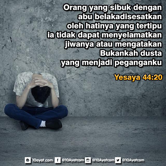 Yesaya 44:20
