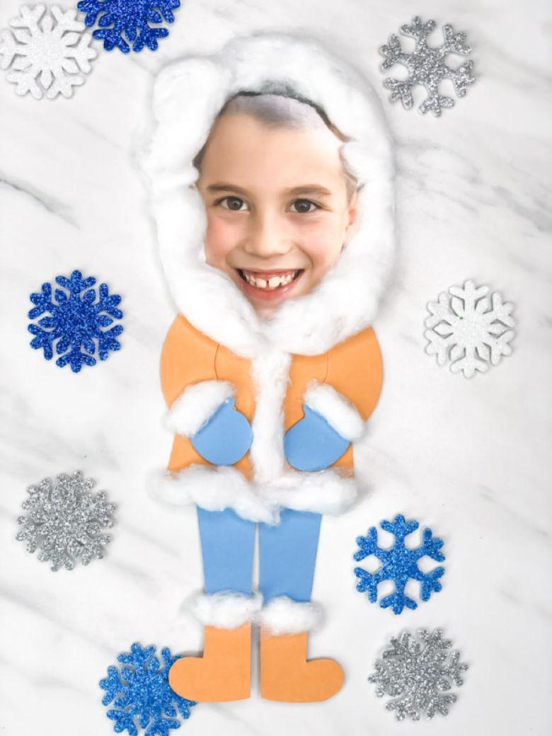 photo eskimo winter craft for kids