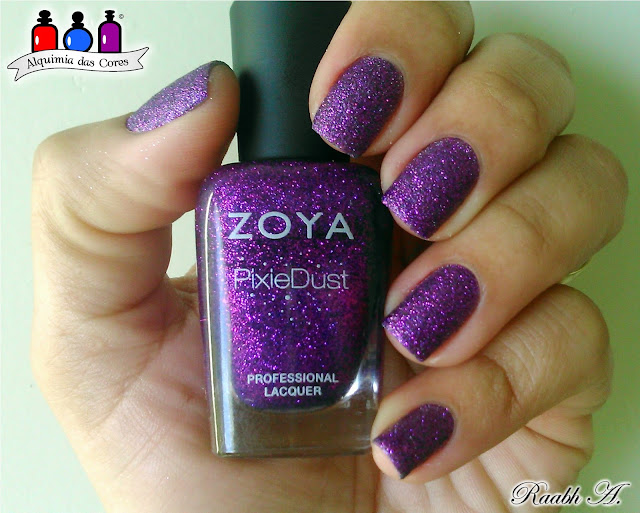 Unhas, esmalte, texturizado, Pixie Dust, Zoya Fall 2013 PixieDust Collection, Carter, Roxo, Magenta, Raabh A.,