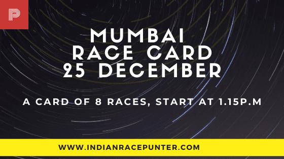 Mumbai Race Card 25 December